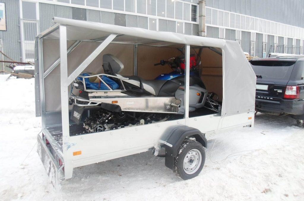 Прицеп для перевозки снегохода