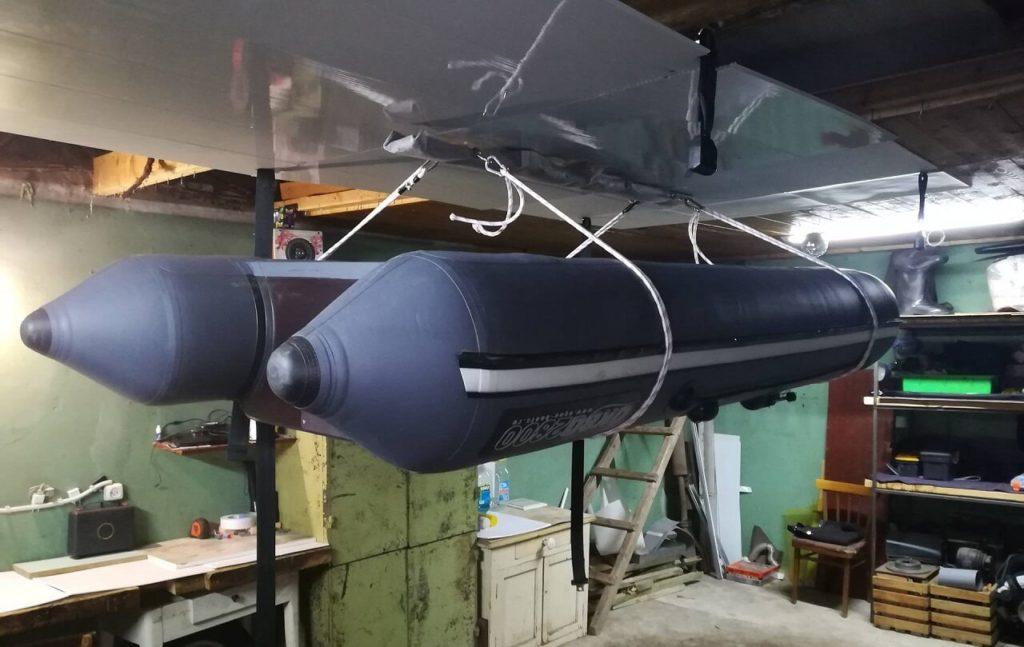 Хранение ПВХ лодки зимой